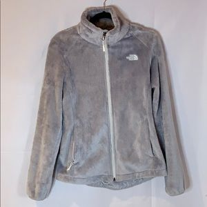 The North Face Fuzzy Grey ZIP-up Jacket